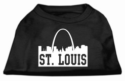 saint louis missouri skyline silhouette screen print sleeveless shirt black