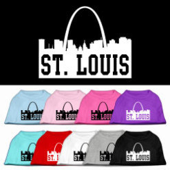 saint louis missouri skyline silhouette screen print sleeveless shirt colors