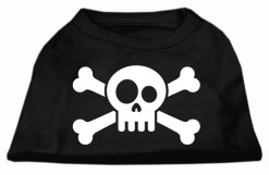 skull and crossbones screen print sleeveless shirt colors black