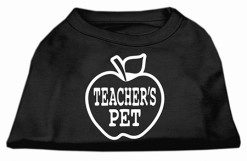 teacher's pet apple screen print sleeveless shirt black