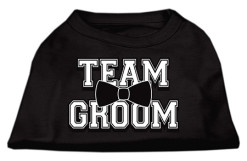 team groom wedding screen print sleeveless shirt black