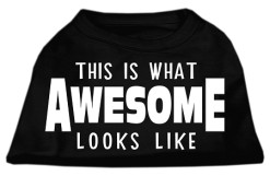 this is what awesome looks like screen print sleeveless shirt black
