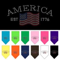 vintage style American bandana rhinestone