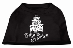wedding crasher cake sleeveless dog t-shirt black