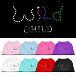 wild child rhinestones dog t-shirt colors